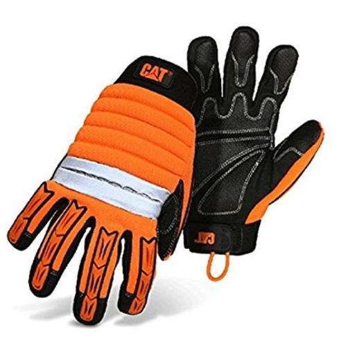 High Visibility High Impact Gloves with Reinforced Palm, Large