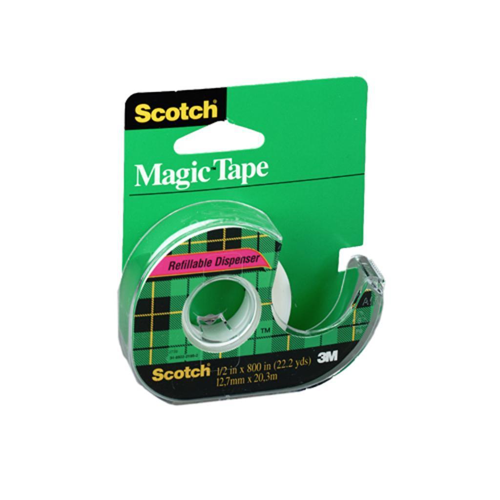 3m 119 scotch magic tape 1/2 inch x 800 inches