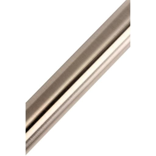 72 in. Edenscape Americana Adjustable Stainless Steel Tube for Shower Curtain Rod Use Only, Satin Nickel
