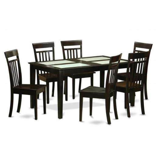 East West Furniture CAP5S-CAP-W 5 Piece Kitchen Set For 4 Set-Kitchen Table and 4 Kitchen Dining Chairs