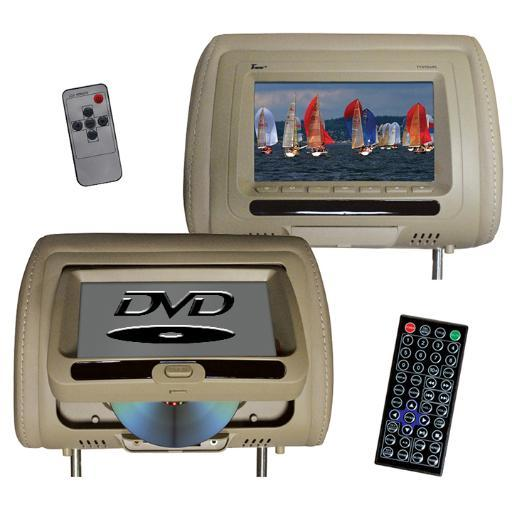 Tview Tview 7 In Headrest Monitor With Dvd Player Built In Speakers Remote Tan