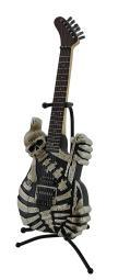 Soul Eater Electric Skeleton Guitar Statue Coin Bank with Stand