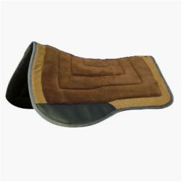 Comfort Plus 159002BN Saddle Pad with Trail Pad & Square Skirt, Brown