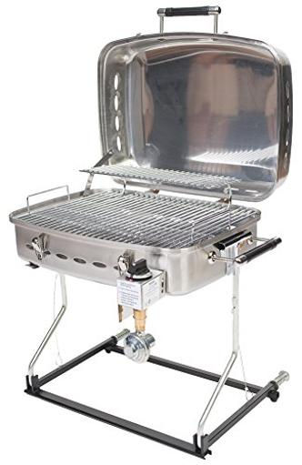 Faulkner 51323 Stainless Steel Barbecue Grille With Disposable Bottle Adapter