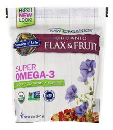 Garden of Life - Organic Flax & Fruit with Super Omega-3 - 12 oz.