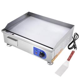 """2500W 24"""" Commercial Electric Countertop Griddle Flat Top Grill Hot Plate BBQ"""