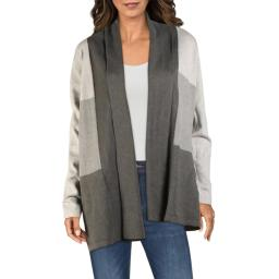Cyrus Womens Colorblock Open Front Cardigan Sweater