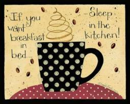Breakfast In Bed Poster Print by Dan DiPaolo PDXDDPRC454ALARGE