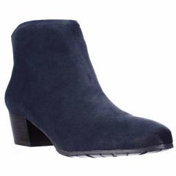 Kenneth Cole REACTION Pil Age Ankle Booties, Navy Pil Age