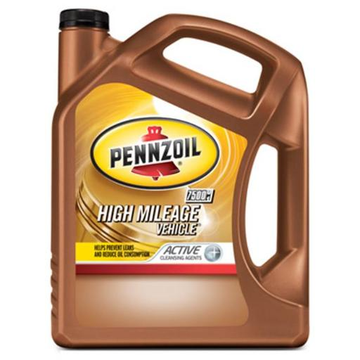 Pennzoil 550038202 10W30 High Mileage Vehicle Motor Oil - 5 qt, Pack of 3
