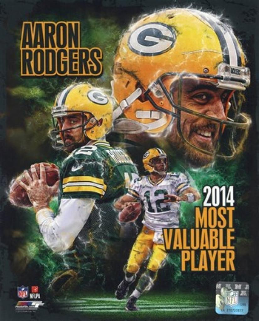 Aaron Rodgers 2014 NFL MVP Composite Sports Photo