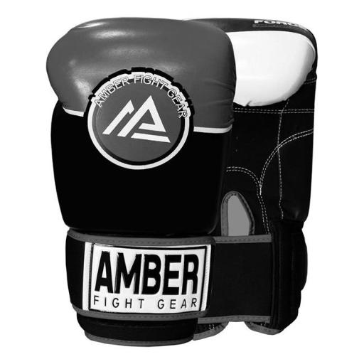 Amber Fight Gear FORCE-101 16 oz Amber Fight Gear Force Sparring Gloves, Grey & Black