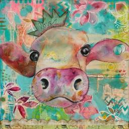 Love Cow Poster Print by Denise Braun PDXBD1148SMALL