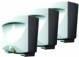 Maxsa  Maxsa White Battery Powered Motion Activated Led Outdoor Night Light Pack Of 3