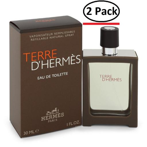 Terre D'Hermes by Hermes Eau De Toilette Spray Refillable 1 oz for Men (Package of 2) Hermes Terre D'Hermes harkens to the scent of a natural man living in splendor. This elegant fragrance debuted on the market in 2006 and quickly defined itself as a leading industry standard. We are pleased to sell Hermes Terre d'Hermes products, including Terre d'Hermes cologne.