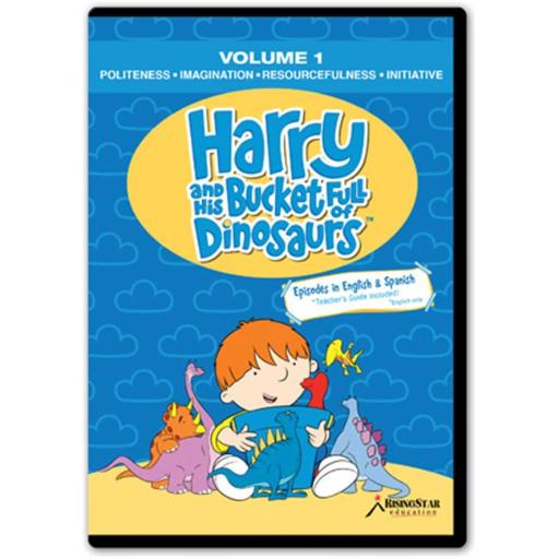 Rising Star Education HBD001 Harry & His Bucket Full of Dinosaurs- Vol. 1 - Politeness- Imagination- Resourcefulness- Initiative- DVD