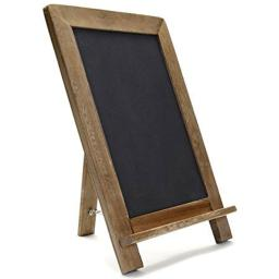 "Compono Vintage Wooden Framed Kick Stand Chalkboard (16"" x 12"")  Rustic, Brown"