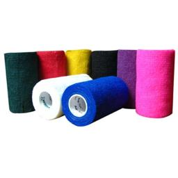 TA3400RED-E 4 in. x 5 Yard Red Vet Wrap Cohesive Bandage