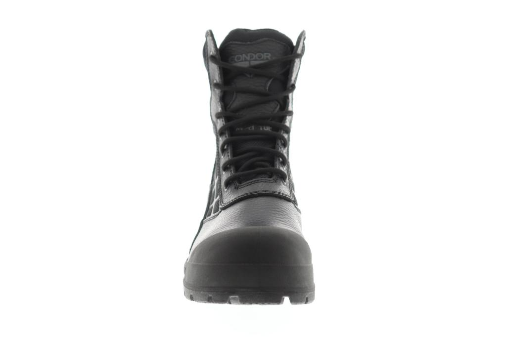 aa41078e564 Condor 8 Steel Toe Work Boot Mens Black Leather Casual Dress Boots Shoes