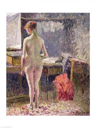 Female Nude seen from the Back, 1895 Poster Print by Camille Pissarro EIQPH4HQIEHX4YJL