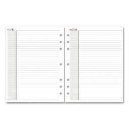 Lined Notes Pages 8.5 X 5.5 White 30 Per Pack   Total Quantity: 1