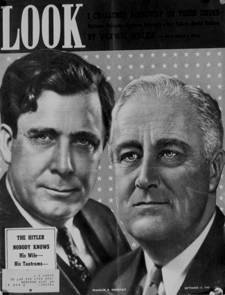 A Promotional Poster Of Franklin Roosevelt Photo Print
