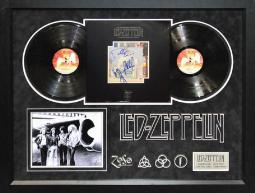 Led Zeppelin - The Song Remains The Same - Album LP Signed by 4 Members - Framed + Dual COA