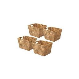 Whitmor 6084-1501-4-wh rattique tote wh 11x9x7 4pk