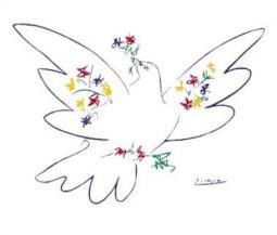 Dove Of Peace - Blue - Pablo Picasso Poster Poster Print PYRP201
