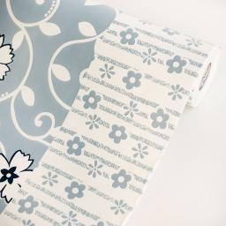 Chained Flowers - Vinyl Self-Adhesive Wallpaper Prepasted Wall Decor (Roll)