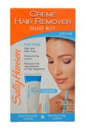 Sally Hansen Creme Hair Remover Kit for Face 1 Pack W-SC-2016