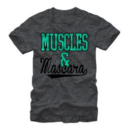 CHIN UP Sporty Muscles and Mascara Womens Graphic Boyfriend Tee