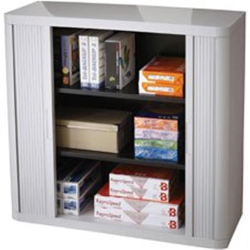 Paperflow Usa PPR366014192346 Easyoffice 80 in. Gray Storage Cabinet - Gray