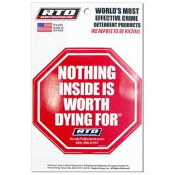 Absolute Coatings 210569 Nothing Inside Is Worth Dying Security Sign - Pack of 12
