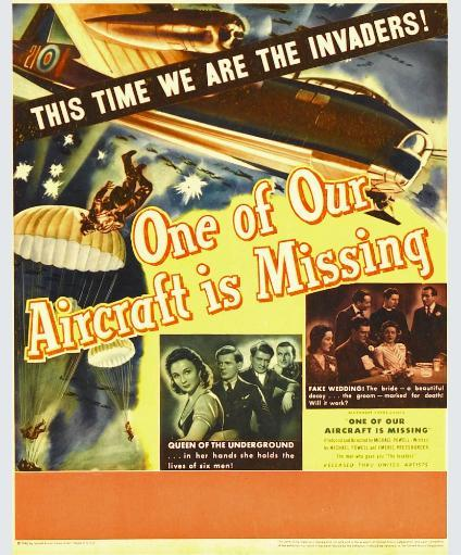 One Of Our Aircraft Is Missing Window Card 1942. Movie Poster Masterprint RVEXBNDV2DMKAU85