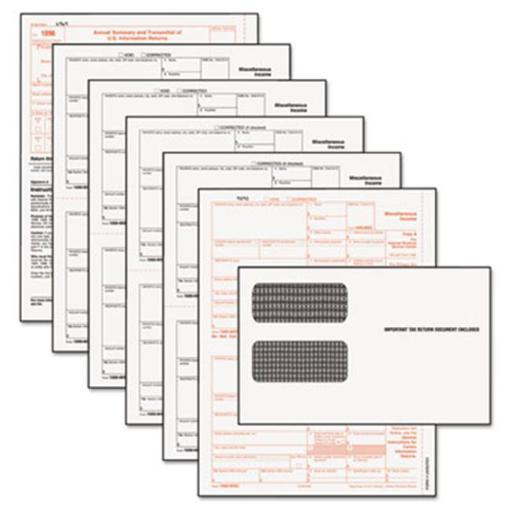 Tops 22905KIT Tax Forms-1099 Misc Tax Forms Kit with 24 Forms 24 Envelopes 1 Form 1096