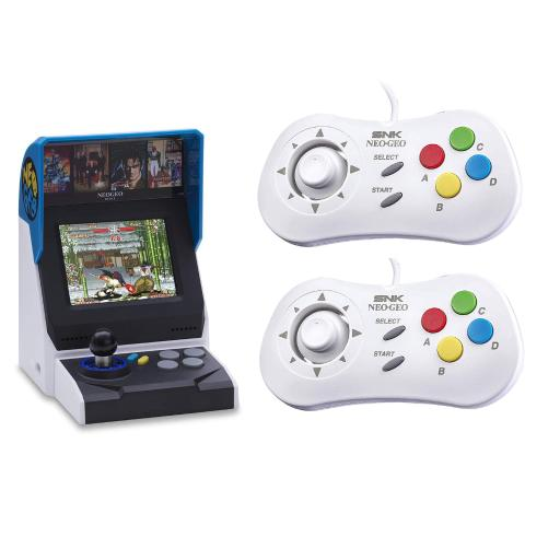 NEOGEO Mini International Video Game Console with 40 Games and 2x White Mini PAD Controller