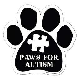 "Paws For Autism Paw Magnet Dog Cat 5.5"" x 5.5"" Shaped Puppy Kitten"