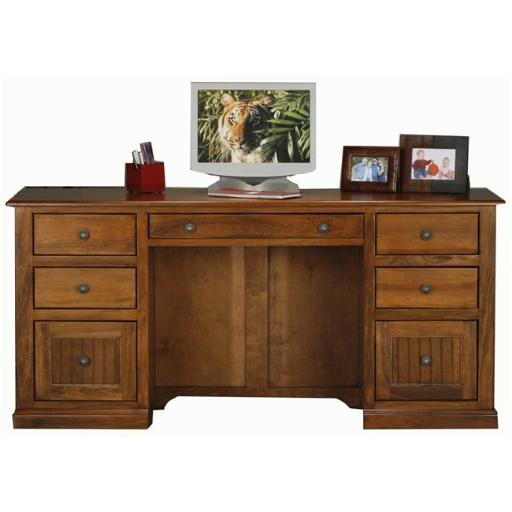 Eagle Furniture 72207NGSS Coastal Double-Pedestal Desk, Summer Sage