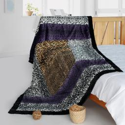 """Onitiva - Wild Jungle Animal Style Patchwork Throw Blanket (61""""-86.6"""")"""