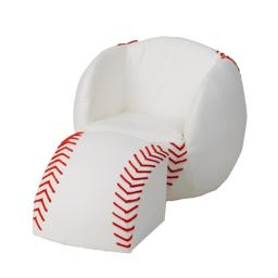 Giftmark 6740 Child's Upholstered Baseball Sports Chair Chair with Ottoman