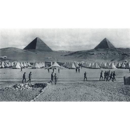 Posterazzi DPI1872349 Australian Troops Camped In Front of The Pyramids In Egypt During World War I From The Illustrated War News 1915 Poster Print, 1