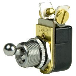 "Bep Marine Bep Spst Chrome Plated 3/8"" Ball Toggle Switch On/off 1002022"