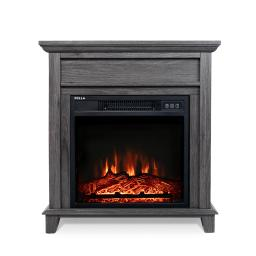 DELLA Large Room Infrared Fireplace in White Finish w/Remote, 18-Inch 1400W