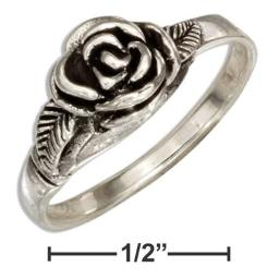 0825c535fac6 Add some shine to your life with this feminine floral and fabulous Rose  Ring in Sterling Silver. This lovely piece of jewelry boasts a beautiful  detailed ...
