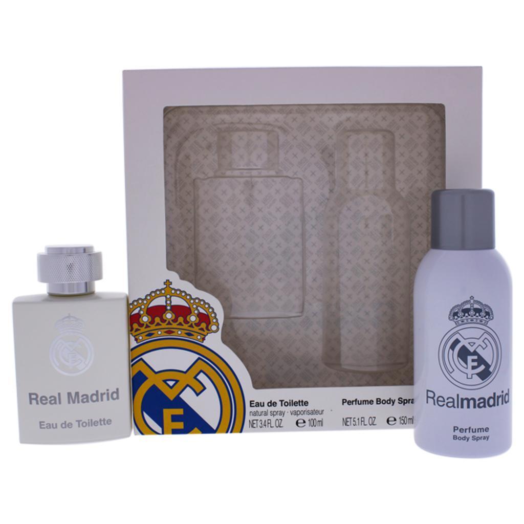Air-Val International Real Madrid By Real Madrid For Men - 2 Pc Gift Set 3.4Oz Edt Spray, 5.1Oz Deodorant Body Spray  2