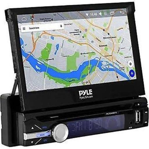 Pyle PLTDAND72 Single DIN Android Stereo Receiver System with Pop-Out Touchscreen