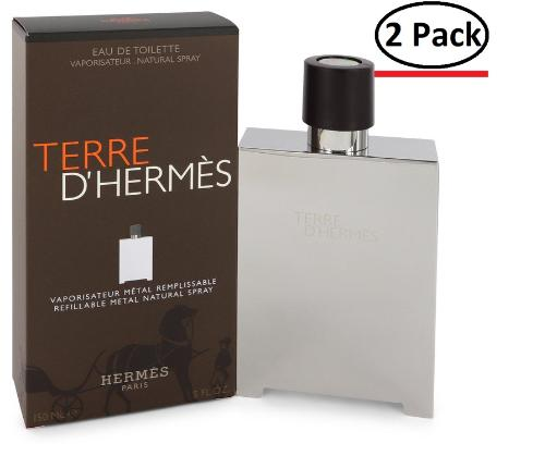 Terre D'Hermes by Hermes Eau De Toilette Spray Refillable (Metal) 5 oz for Men (Package of 2) Hermes Terre D'Hermes harkens to the scent of a natural man living in splendor. This elegant fragrance debuted on the market in 2006 and quickly defined itself as a leading industry standard. We are pleased to sell Hermes Terre d'Hermes products, including Terre d'Hermes cologne.