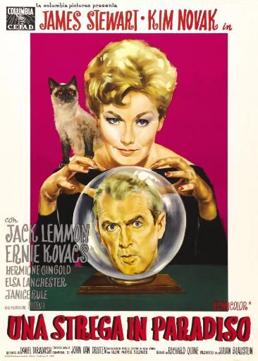 Bell Book And Candle Top: Kim Novak Bottom: James Stewart On Italian Poster Art 1958 Movie Poster Masterprint
