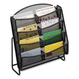 Safco Products Company SAF5642BL Business Card Holder- Mesh- 8-Pockets- 8-.75in.x3in.x8-.75in.- Black